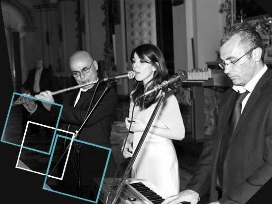 Musica in chiesa con soprano, tenore, organo e flauto