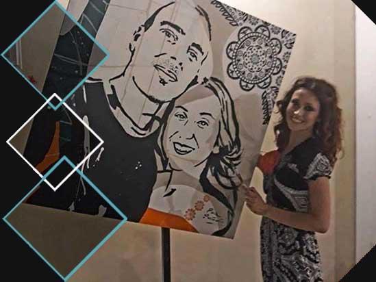 pittura pop-art e musica dal vivo matrimonio