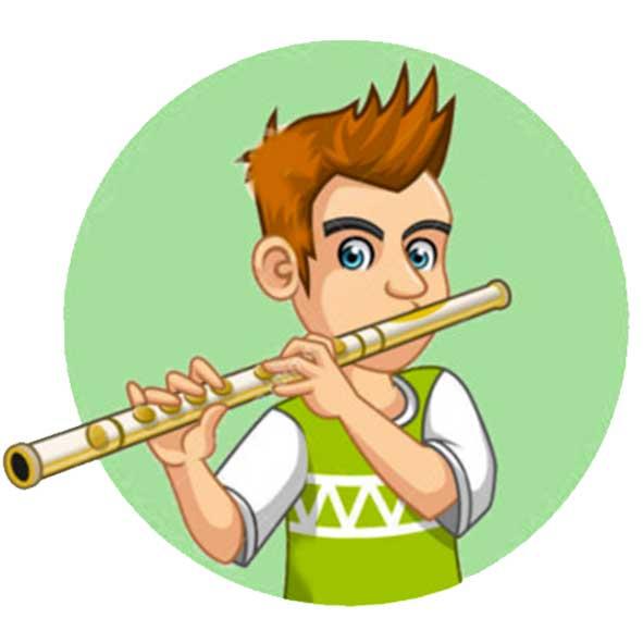 disegno flauto