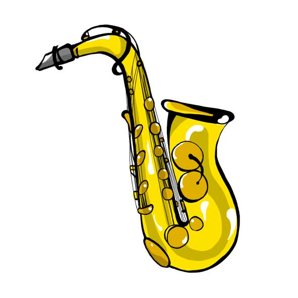 disegno sassofono